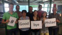 Certains membres de l'équipe de l'atterrisseur Philae au DLR Lander Control Center à Cologne (credit DLR)