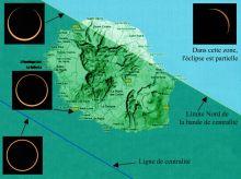 Léclipse annulaire observable depuis La Réunion le 01/09/2016 (source : Observatoire des Makes)