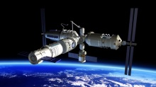 Vue d'artiste de la future station spatiale chinoise